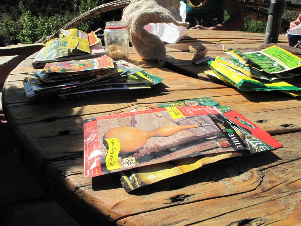 Semillas para huerto permacultura en Prado Negro