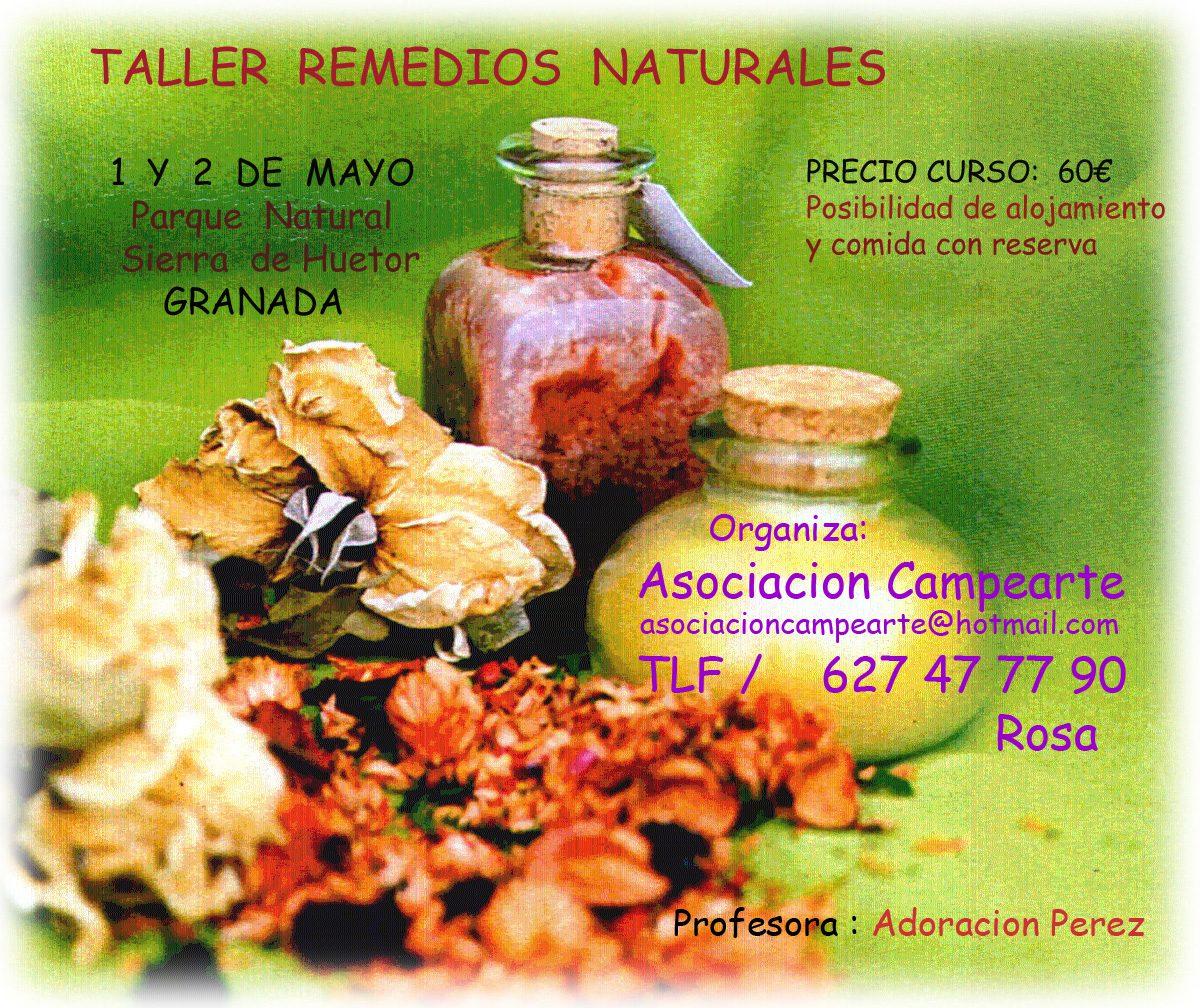 Taller de remedios naturales con Adoracion Perez