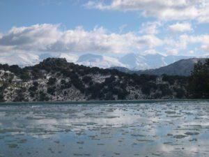 vista general en invierno en la alberca de Campearte