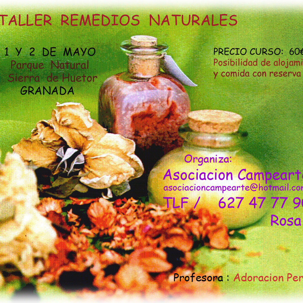 Curso de cosmética natural en Prado Negro