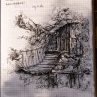 Socios chinos artistas en Prado Negro