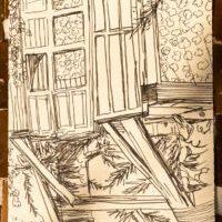 Carla Berrocal dibuja la cabaña nido de Campearte
