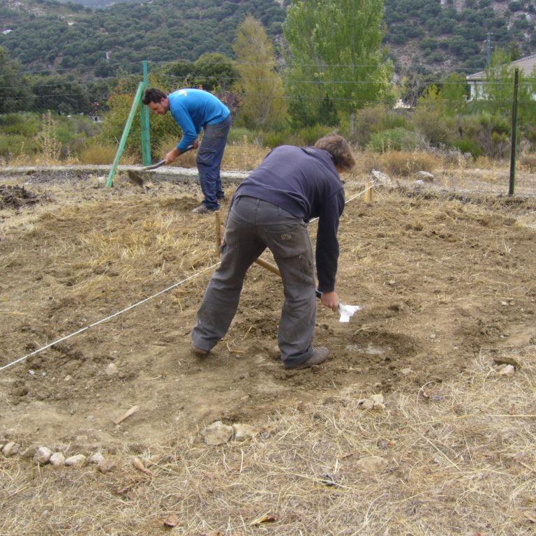 preparacion huerto actividades de inviernoen Prado Negro