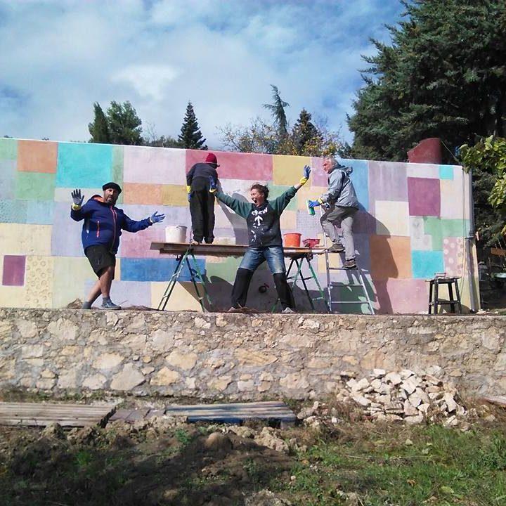 Mural inspirado en Paul Klee